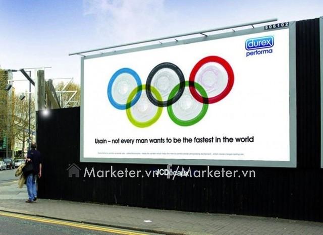 Này Usain - không phải ai cũng muốn làm người nhanh nhất thế giới - một lời nhắn rất hài hước mà hãng bao cao su Durex gửi đến vận động viên điền kinh Usain Bolt - người đang nắm giữ kỷ lục thế vận hội Olympic.