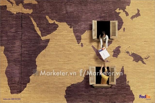 Hãng chuyển phát nhanh FedEx có cách rất riêng để thể hiện sự có mặt của mình trên toàn thế giới.
