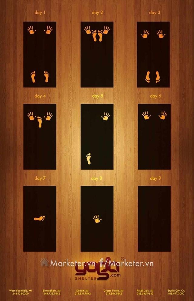 Những hình ảnh có phần bí ẩn và dễ gây hiểu nhầm này chính là quảng cáo cho một trung tâm tập Yoga.